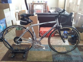 Silver 2008 Specialized Es Slx Dolce Comp Road Bike